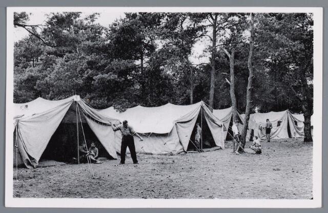 058066 - Rijen, Kamp van de Rotterdamse bond voor lichamelijke opvoeding. Vacantiekamp voor kinderen opgericht in 1924,  Kampbeheerder H.A. Koert.