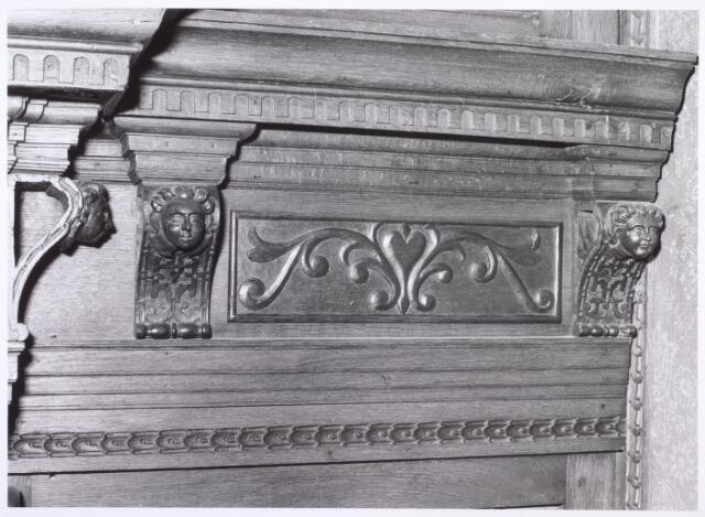 017918 - Detail van het interieur van hofstede De Blaak (jachtkamer)