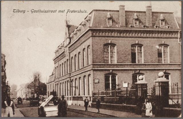 010502 - Gasthuisstraat, nu Gasthuisring met het moederhuis van de fraters van O.L.V. Moeder van Barmhartigheid.