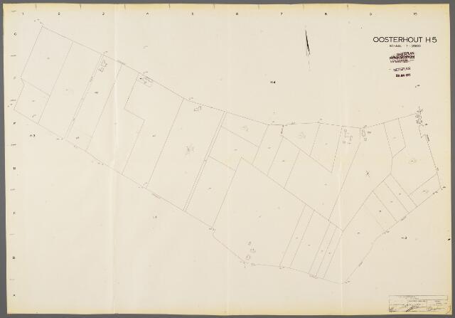 104969 - Kadasterkaart. Kadasterkaart / Netplan Oosterhout. Sectie H5. Schaal 1: 2.000.