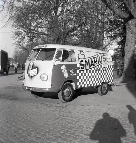 654321 - Reclame. Bestelbus van firma Smarius. Volkswagen Transporter.