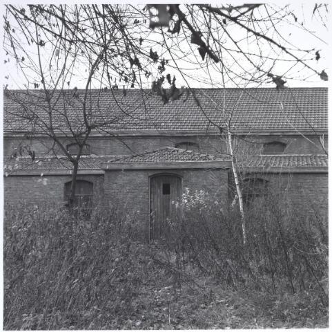 025288 - Achterzijde van het voormalige St. Rochusgesticht aan de Lange Nieuwstraat in december 1979