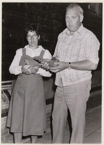101425 - Duivensport. Het echtpaar Smulders uit Dorst met succesvolle duiven.