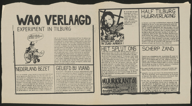668_1980_061 - Muurkrant: WAO verlaagd; experiment in Tilburg