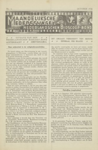 Ledenbulletin en maandelijkse mededelingen 1934-10-01