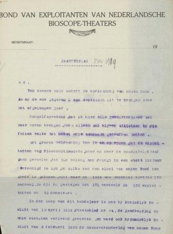 Jaarverslagen 1919-01-01