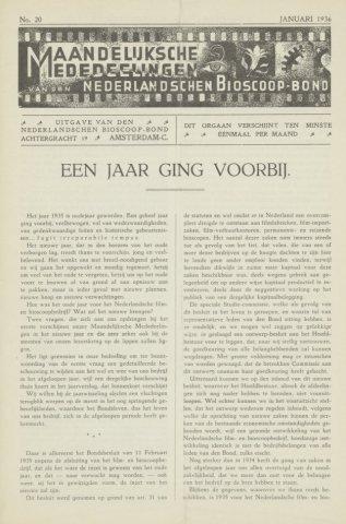 Ledenbulletin en maandelijkse mededelingen 1936-01-01