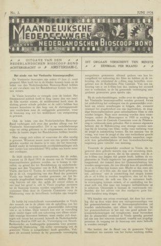 Ledenbulletin en maandelijkse mededelingen 1934-06-01
