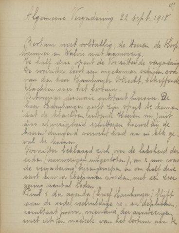 Jaarverslagen 1918-09-22