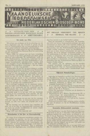 Ledenbulletin en maandelijkse mededelingen 1935