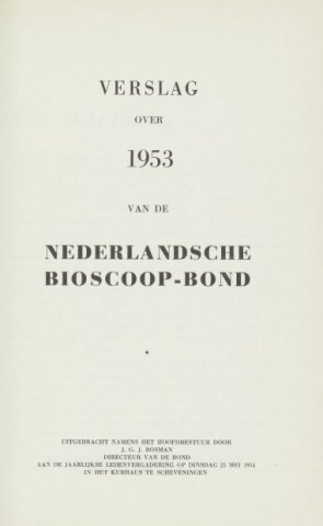 Jaarverslagen 1953-01-01