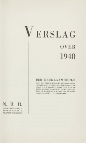 Jaarverslagen 1948-01-01