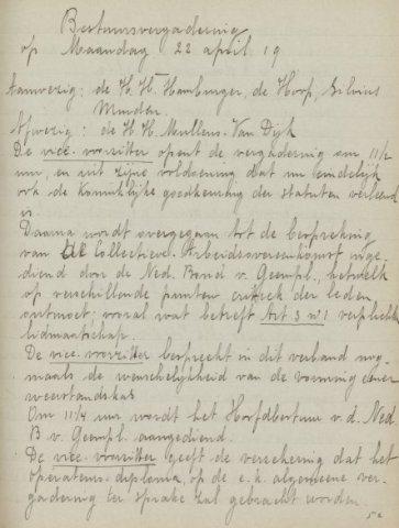 Jaarverslagen 1919-04-22
