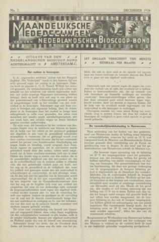 Ledenbulletin en maandelijkse mededelingen 1934-12-01