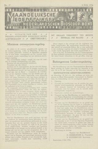 Ledenbulletin en maandelijkse mededelingen 1936-07-04
