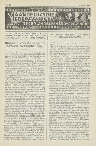 Ledenbulletin en maandelijkse mededelingen 1936-05-01