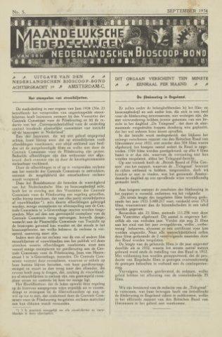 Ledenbulletin en maandelijkse mededelingen 1934-09-01