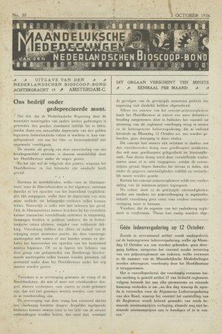 Ledenbulletin en maandelijkse mededelingen 1936-10-03