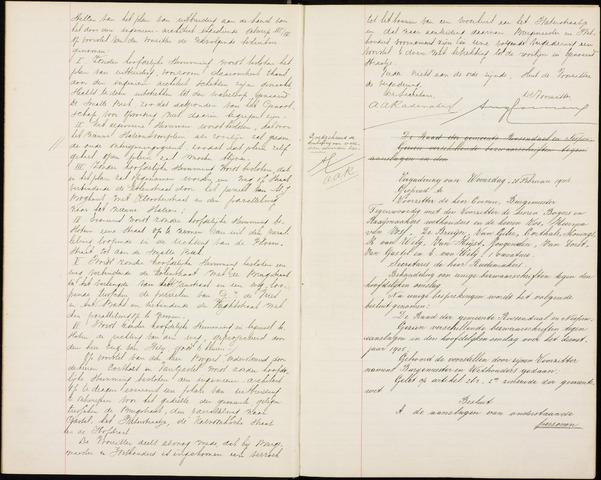 Roosendaal: Notulen gemeenteraad (besloten), 1851-1916 1906