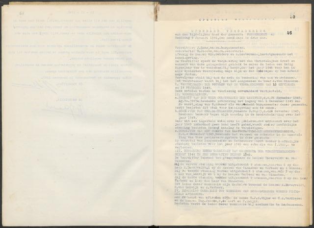 Woensdrecht: Notulen gemeenteraad, 1922-1996 1946-01-01