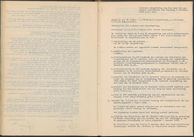 Ossendrecht: Notulen gemeenteraad, 1920-1996 1935