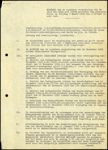 Putte: Notulen gemeenteraad, 1928-1996 1950-01-01