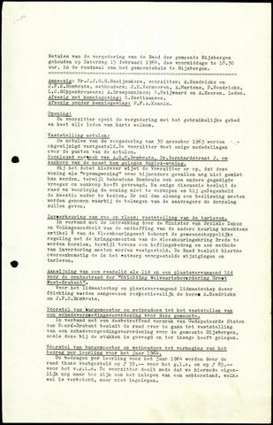Rijsbergen: Notulen gemeenteraad, 1940-1996 1964