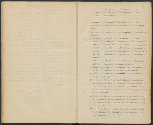 Woensdrecht: Notulen gemeenteraad, 1922-1996 1923-01-01