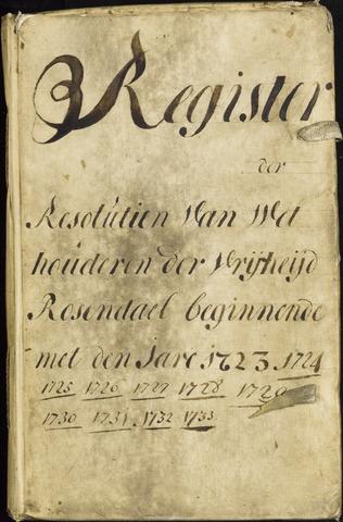 Roosendaal: Registers van resoluties, 1671-1673, 1675, 1677-1795 1723