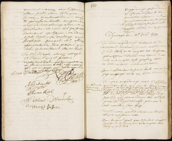 Wouw: Registers van resoluties, 1593-1811 1730