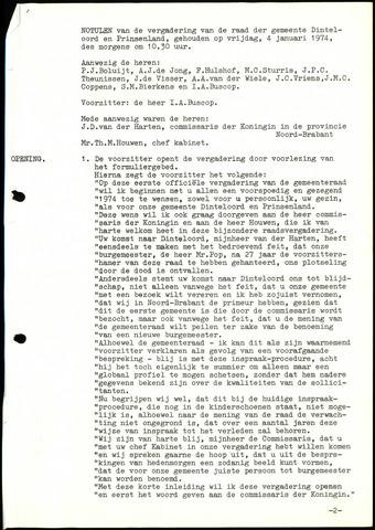 Dinteloord: Notulen gemeenteraad, 1946-1996 1974