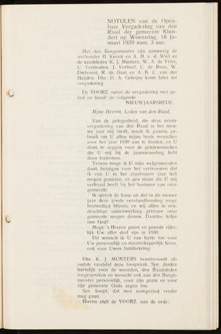 Klundert: Notulen gemeenteraad, mei 1933-1996 1939