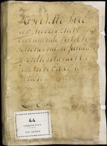 Wouw: Registers van resoluties, 1593-1811 1714
