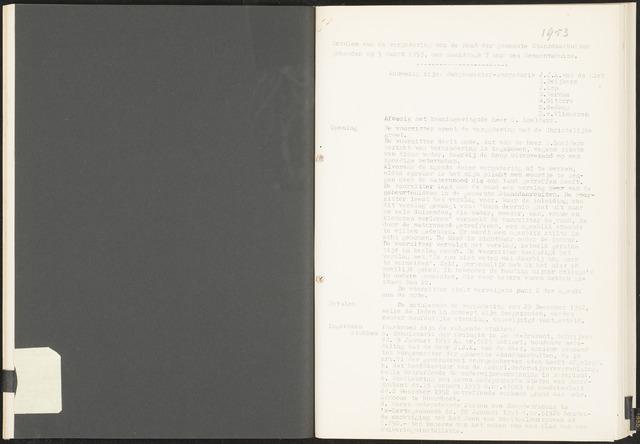 Standdaarbuiten: Notulen gemeenteraad, 1937-1996 1953-01-01