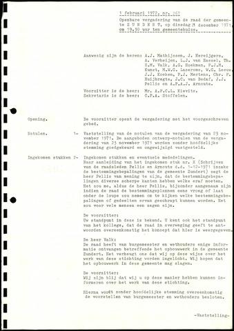 Zundert: Notulen gemeenteraad, 1934-1988 1972-01-01