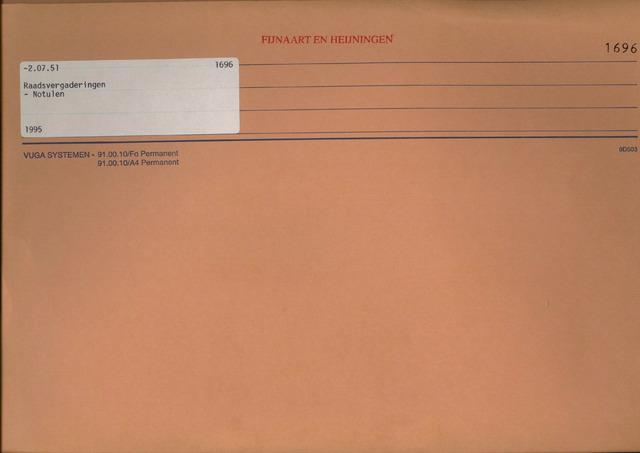 Fijnaart en Heijningen: notulen gemeenteraad, 1934-1995 1995