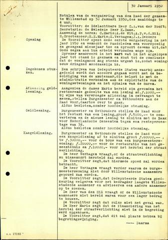 Willemstad: Notulen gemeenteraad, 1927-1995 1950-01-01