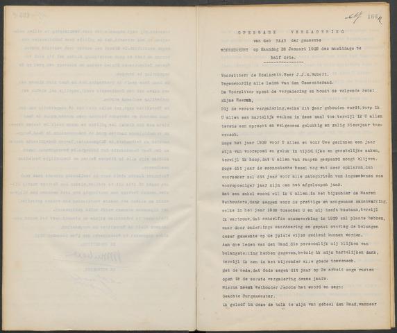 Woensdrecht: Notulen gemeenteraad, 1922-1996 1929-01-01