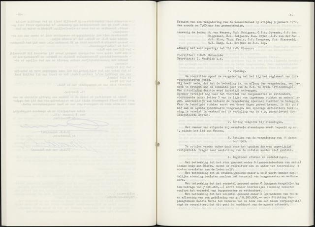 Zevenbergen: Notulen gemeenteraad, 1930-1996 1970-01-01