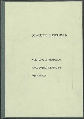 Rijsbergen: Notulen gemeenteraad, 1940-1996 1968