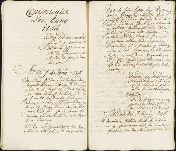 Roosendaal: Registers van resoluties, 1671-1673, 1675, 1677-1795 1758