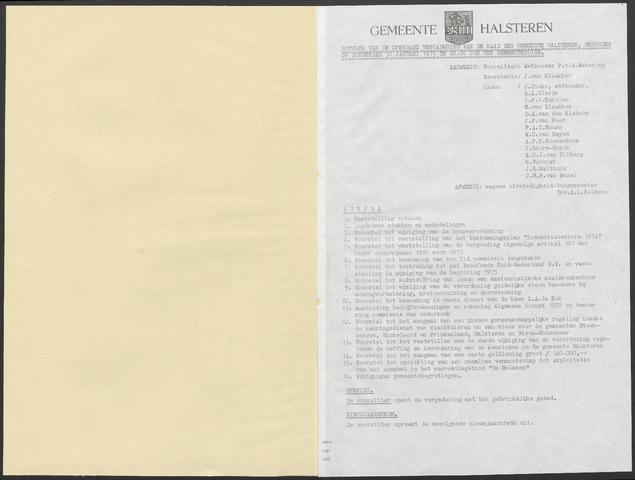 Halsteren: Notulen gemeenteraad, 1960-1996 1975