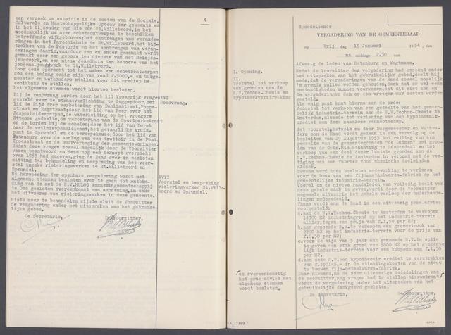 Rucphen: Notulen gemeenteraad, dec. 1949-1998 1954-01-01