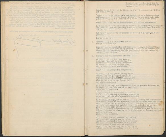 Ossendrecht: Notulen gemeenteraad, 1920-1996 1922
