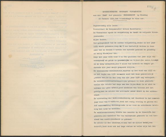 Woensdrecht: Notulen gemeenteraad, 1922-1996 1935-01-01