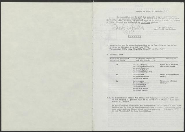 Bergen op Zoom: Notulen gemeenteraad, 1926-1996 1978-01-01