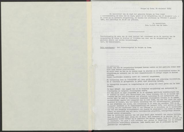 Bergen op Zoom: Notulen gemeenteraad, 1926-1996 1980-01-01