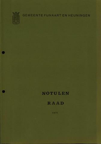 Fijnaart en Heijningen: notulen gemeenteraad, 1934-1995 1971