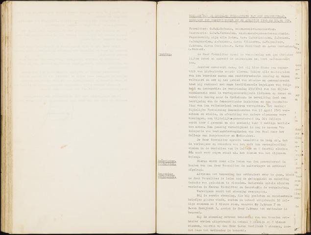 Hoeven: Notulen gemeenteraad, 1928-1996 1945-01-01