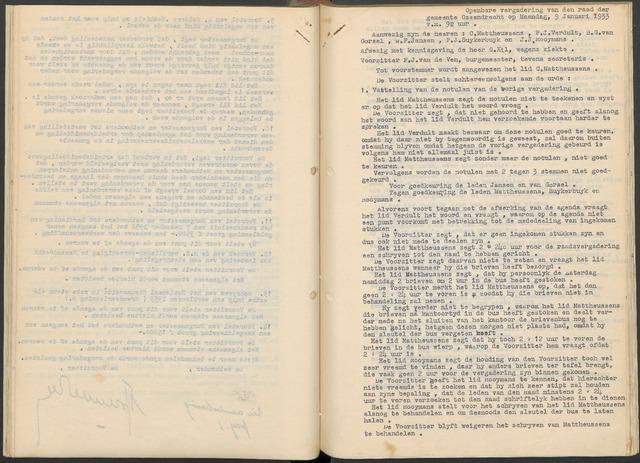 Ossendrecht: Notulen gemeenteraad, 1920-1996 1933